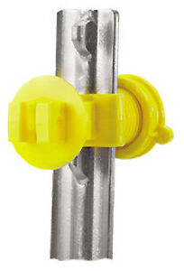 Electric Fence Insulator T post Western Screw Tight Yellow