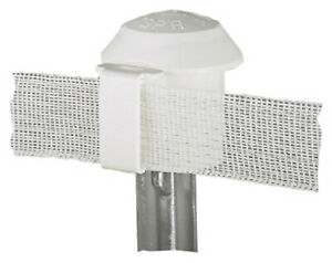 Electric Fence T post Safety Cap White 10 pk