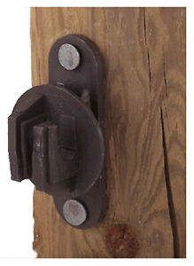 Electric Fence Insulator Wood Post Snug fit Black 25 pk