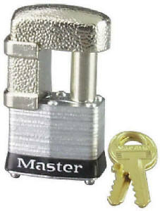 4 pin Shrouded Double locking Padlock With Guarded Shackle