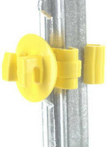 Electric Fence Insulator T post Snug fit Yellow 25 pk