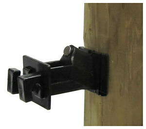 Electric Fence Insulator Wood Post Wire Snug fit With Nail Black 25 pk
