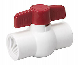 Threaded Ball Valve White Pvc 2 in