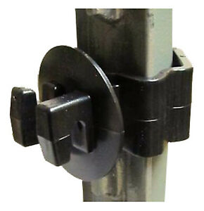Electric Fence Insulator T post Wire Black 25 pk