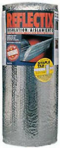 Reflective Insulation Double Bubble Foil Staple Tab 16 in X 25 ft