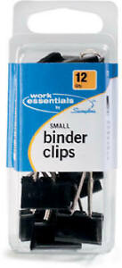 12 pack Small Binder Clips Pack Of 6