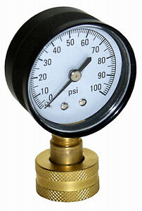 Water Pressure Test Gauge 100 Psi