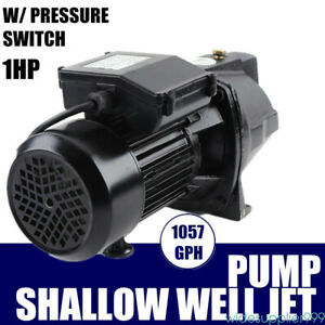 1 Hp Shallow Well Jet Pump W Pressure Switch 110v Ip44 1 Port Water Supply