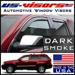 Us visors In channel Window Vent Visors Guard Fit 2005 2010 Jeep Grand Cherokee