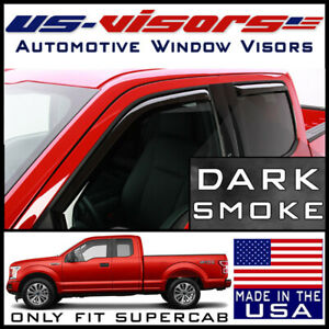 Us visors 2015 2020 Ford F 150 Super Cab Truck Window Vent Visors In channel 4pc
