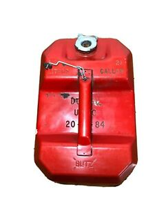 Vintage Blitz 2 5 Gallon Red Metal Gas Can Fuel Storage Can Usmc Jeep 1984 9 5l
