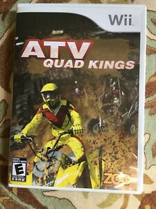 ATV QUAD KINGS NINTENDO Wii GAME COMPLETE RACING FREESTYLE STUNTS Ships Fast