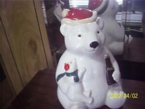 1998 coca-cola cookie jar marketed by teleflora very nice condition  bear&cub