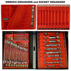 Wrench Socket Organizer Tool Sorter Holder For Craftsman Tools Toolbox Tray
