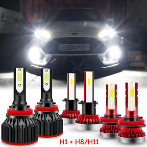For Ford Focus 2012 2018 Led Headlights High Low Beam Fog Light Bulb H1 H11