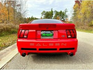 Rear Decal Bumper Letters For Ford Mustang Saleen outlines 1999 2004