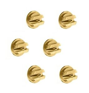 Pack Of 6 Teejet Brass Off center Flat Fan Spray Tips Rated 0 60 Gpm 40 Psi