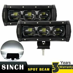 2x 8 Inch Led Work Light Bar Truck Pickup Boat Off Road Spotlight Fog Lamp 7