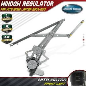 Window Regulator With Motor For Mitsubishi Lancer 08 17 Front Left W Anti pinch