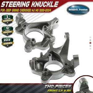 2pcs Steering Knuckle For Jeep Grand Cherokee Wj Wg 1999 2004 Front Left