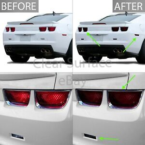 Fits 10 13 Camaro Tail Light Sidemarker Reflector Precut Smoke Tint Kit Overlay