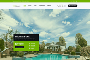 Property One Real Estate Wordpress Website with Demo Content