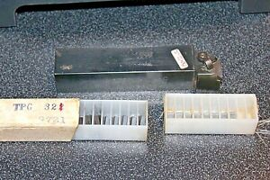 Carboloy Lathe Cutting Tool Ctfpl 16 3c Includes 8 New Inserts Tpg 321