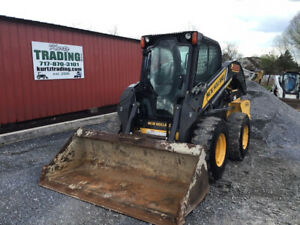 2014 New Holland L228 Skid Steer Loader W Cab 2 Speed New Tires Cheap