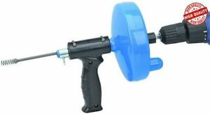 Hand Crank Or Drill Operated Powered Plumbing Drain Cleaner Snake C34709