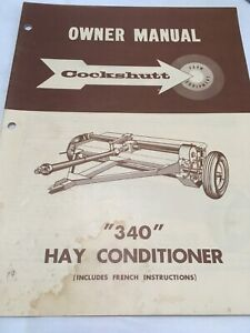 Cockshutt 340 Hay Conditioner Owner Manual Includes French
