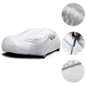 Heavy Duty Outdoor Full Car Cover All Weather Protector Fit 15 16ft Auto Sedan