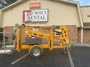 2016 Haulotte 3522a Towable Boom Lift run Time 118 Hours