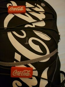 New Vintage Black Coca Cola mini Backpack with red BOX LOGO emblems