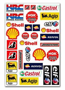 31 Vinyl Stickers Shell Oil Hrc Racing Sponsor Auto Moto Car Truck Tuning D 6