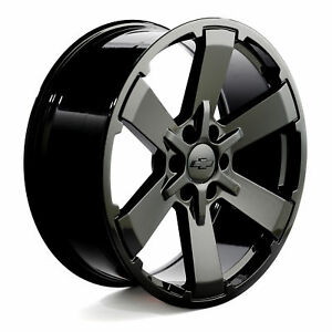 Chevy Midnight Edit 22 Gloss Black Wheels Silverado Rims Rally 5662 Ck162 Set4