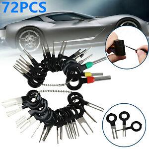 72x Car Wire Terminal Removal Tool Wiring Crimp Connector Pin Release Puller Kit