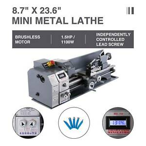 Upgraded Mini Metal Lathe 8 7 23 6 1100w Metal Gear Digital Display 3 Speeds