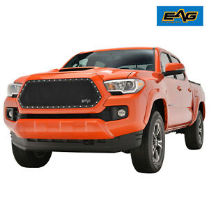 Eag Fit 16 20 Toyota Tacoma 1pc Cutout Rivet Black Steel Wire Mesh Grille