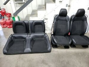 2016 2018 Ford Mustang Gt350 Black Leather Suede Front Seats Oem