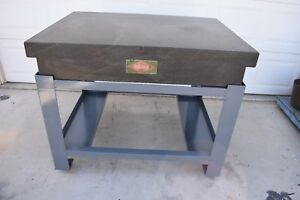 Used Rahn Granite Surface Table With Stand 48 X 36 X 8