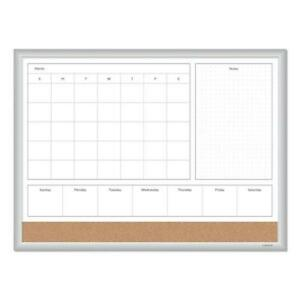 4n1 Magnetic Dry Erase Combo Board 24 X 18 White natural