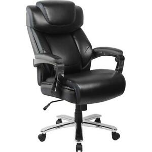 Big Tall 500 Lb Rated Black Leatherergonomic Office Chair adjustable