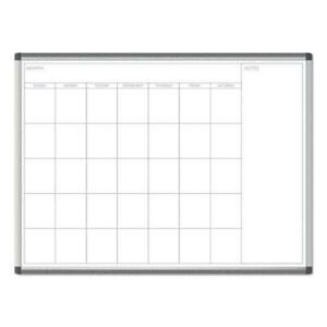 Pinit Magnetic Dry Erase Undated One Month Calendar 48 X 36 White
