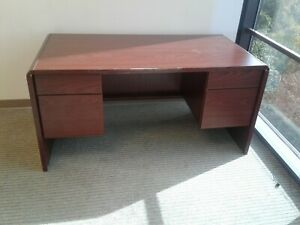 Office Desk Solid Wood File Drawers