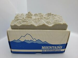 Topographic 3d Relief Model Of Grand Tetons Mountains In Miniature 1983