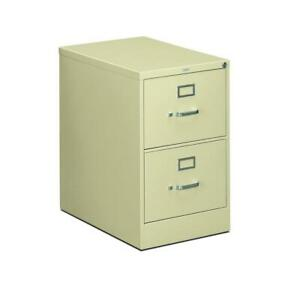 Hon 310 Series Vertical File Cabinet Legal Width 2 Drawers Putty h312c