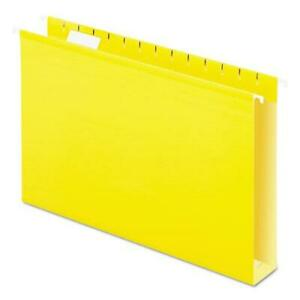 Extra Capacity Reinforced Hanging File Folders With Box Bottom Legal Size