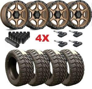 17 Bronze Wheels Rims Tires 33 12 50 33x12 50r17 Mud Mt Xd Method Fuel Rhino