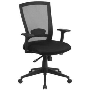 Mid back Black Mesh Executive Swivel Ergonomic Office Chair With Back Angle