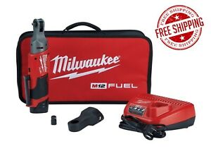 Milwaukee 1 4 Cordless Ratchet W Battery Charger Kit Free Shipping 2556 21